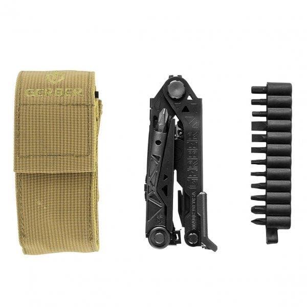 Centre-Drive Multi Tool (Black) with Bit Set and Belt Sheath
